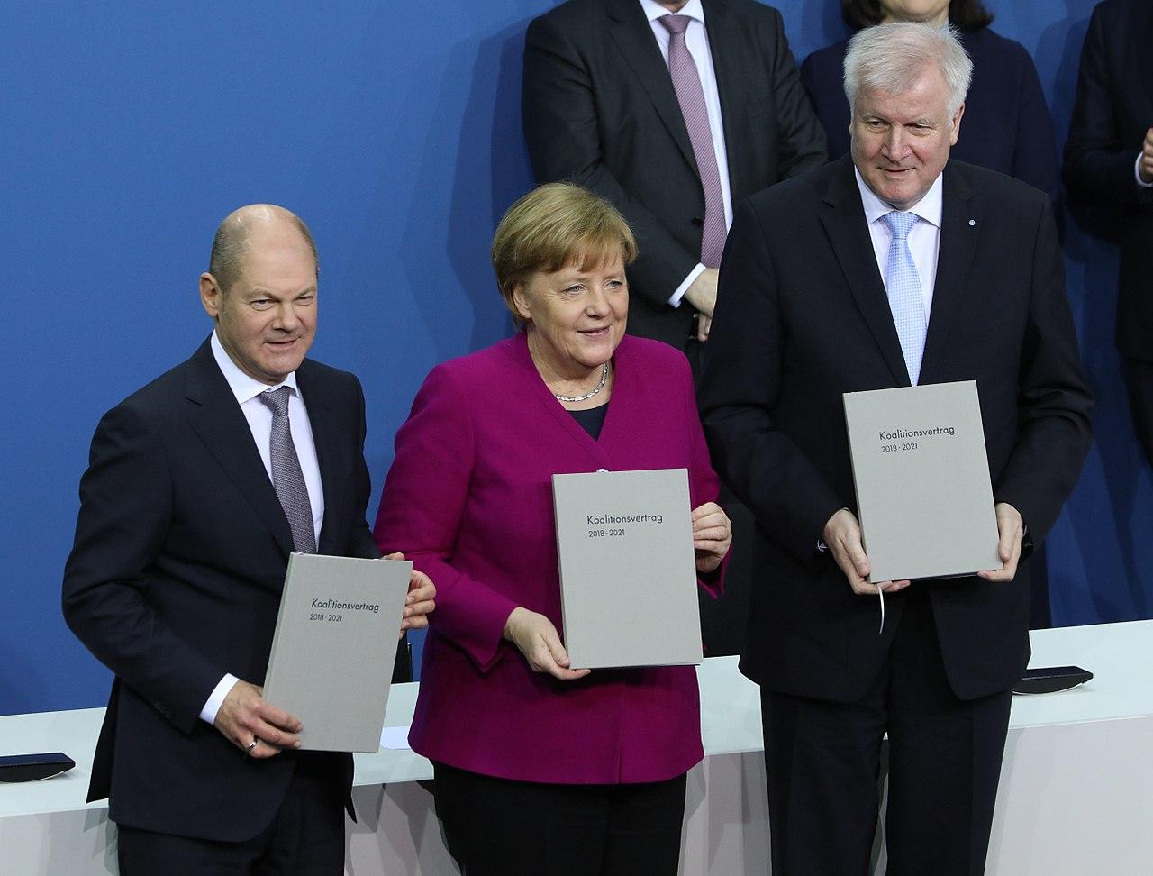 Unterschrift des Koalitionsvertrages der 19. Wahlperiode des Bundestages am 12. März 2018 im Paul-Löbe-Haus