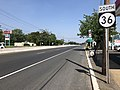 2018-05-25 15 31 55 View south along New Jersey State Route 36 just south of Monmouth County Route 7 (Main Street-Palmer Avenue) on the border of Keansburg and Middletown Township in Monmouth County, New Jersey.jpg