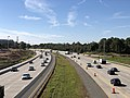 2018-10-22 13 34 27 View west along Interstate 66 from the overpass for Virginia State Route 28 (Sully Road) in Centreville, Fairfax County, Virginia.jpg