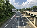 2019-07-05 17 22 50 View north along the southbound lanes of Interstate 270 Spur from the overpass for Westlake Terrace along the edge of North Bethesda and Potomac in Montgomery County, Maryland.jpg