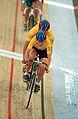 231000 - Cycling track Kerry Modra Kieran Modra action 4 - 3b - 2000 Sydney race photo.jpg