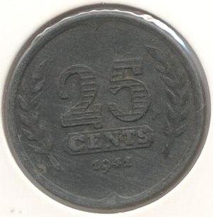 25 cents (World War II Dutch coin)