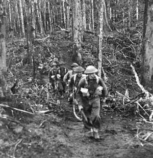 Battle of Pearl Ridge - Image: 25th Battalion attack Pearl Ridge 30 December 1944