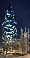 30 St Mary Axe - The Gherkin from Leadenhall St - Nov 2006.jpg