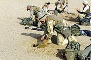 3rd Battalion 4th Marines dig in near Iraqi border 2003-03-20