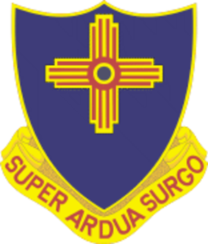 177th Armored Brigade (United States) - Image: 410 Inf Rgt DUI