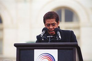 Eleanor Holmes Norton - Norton speaking at a 1998 rally against the impeachment of Bill Clinton.