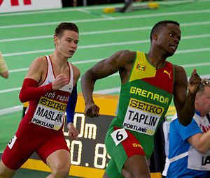 Bralon Taplin - Bralon Taplin (right) at the 2016 World Indoor Championships