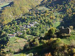 494 Un village vu depuis le monastère de Tatév.JPG