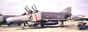 561st Fighter Squadron - 561st FS F-4E-62-MC Phantom 74-1650, 1992 (Converted to F-4G SAM suppression configuration). Photo taken just before the unit's inactivation at George AFB, California