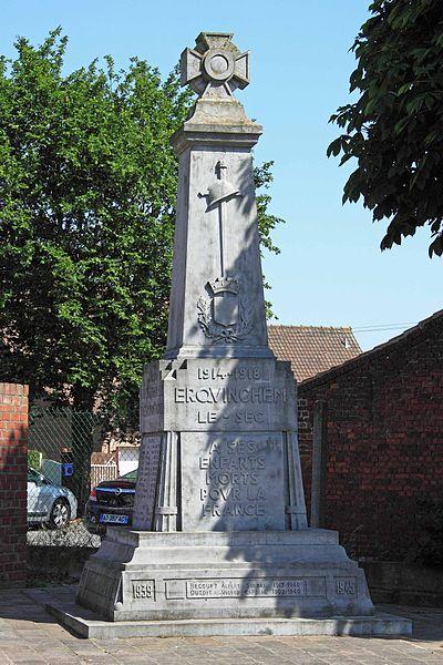 Monument aux Morts - Place de l'Eglise, 59 Erquinghem-le-Sec
