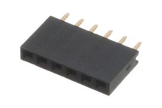 Pin header - 6x1 female socket