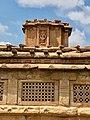 6th century Ladkhan temple, Vishnu on rooftop shrine, Aihole Hindu monuments Karnataka.jpg