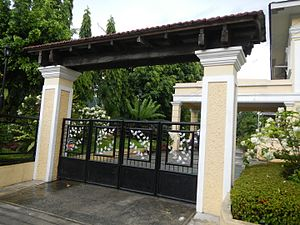 Quezon Heritage House - The gate of the house does not strictly follow the Neoclassical style.