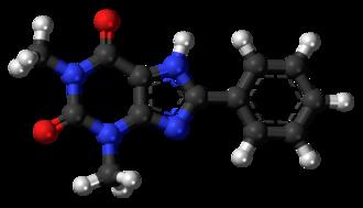 8-Phenyltheophylline - Image: 8 Phenyltheophylline 3D ball
