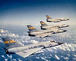 94th Fighter-Interceptor Squadron F-106 Delta Darts Four-Ship Formation.jpg