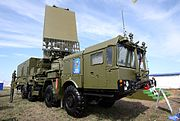 The all-altitude detection radar 96L6E of S-300/400 systems, mounted on the chassis of MZKT-7930.