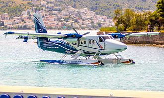European Coastal Airlines - European Coastal Airlines De Havilland Canada DHC-6 Twin Otter near the water terminal of Split Airport