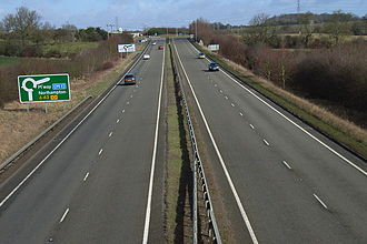 Northamptonshire - Brackley bypass on the A43