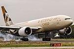 A6-DDE Etihad Airways Boeing 777-FFX coming in from Abu Dhabi (AUH) @ Frankfurt (FRA).jpg