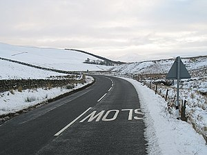 English: A701 north of Broughton In pretty goo...