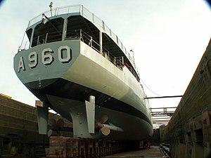 A960 in Drydock p9, Antwerp, Belgium.JPG