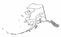 Location of Chickaloon, Alaska