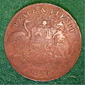 AUSTRALIA, MELBOURNE, ROBERT HYDE and COMPANY TRADE TOKEN 1857 b - Flickr - woody1778a.jpg