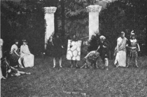 The Philaletheis Society - An outdoor production of A Midsummer Night's Dream in 1914
