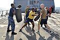 A Sailor practices security tactics at sea. (8413080413).jpg