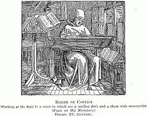 A Scribe or Copyist