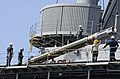 A Tomahawk missile aboard USS Frank Cable. (8203271902).jpg