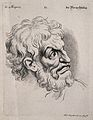 A bearded man expressing scorn. Engraving by M. Engelbrecht Wellcome V0009356.jpg