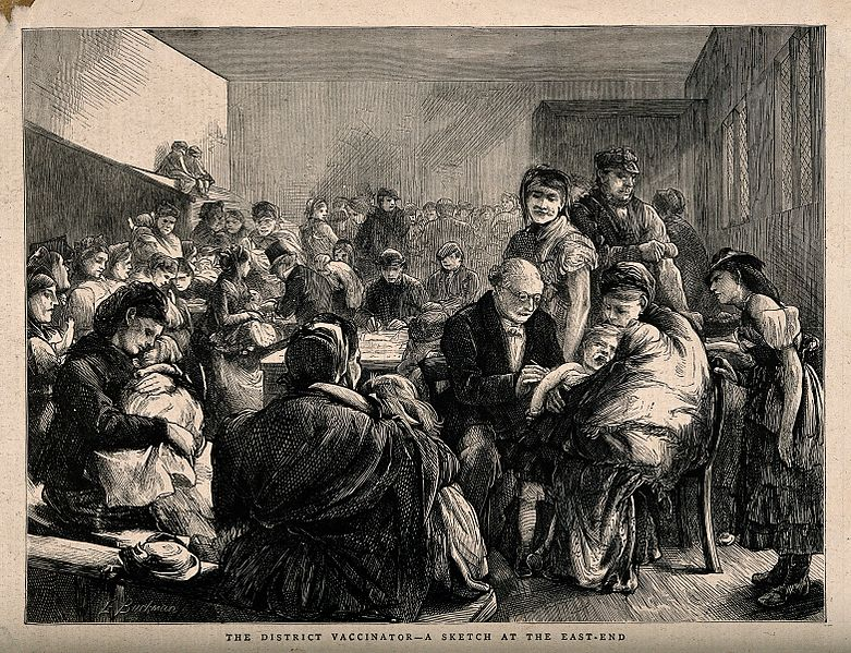 File:A dispensary in the East End of London; crowds of local chil Wellcome V0016513.jpg