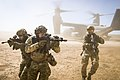 A joint special forces team moves together out of an Air Force CV-22 Osprey aircraft, Feb. 26, 2018.jpg