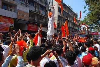Gudi Padwa - A Gudi Padwa new year festive procession in Maharashtra