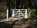 Abbess Roding - roadside white gate - Essex England.jpg