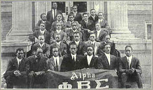 English: Founders and charter members of Phi B...