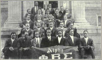Phi Beta Sigma - Founding photo of Alpha Chapter, Howard University, circa 1914