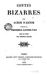 Achim von Arnim: Contes bizarres