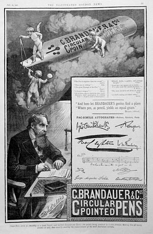 Birmingham pen trade - Image: Ad Brandauer Co 1885 illustrated
