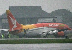 Adam Air Flight 172 - Image: Adam Air crash