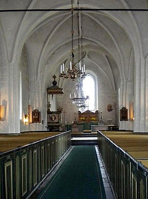 Adelsö Church - Interior of the church.