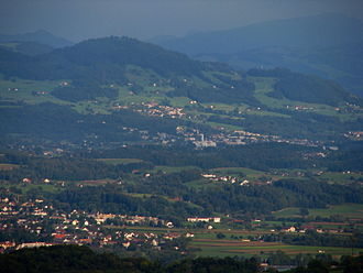 Hinwil - Hinwil as seen from Adlisberg in Zürich-Witikon (September 2009)