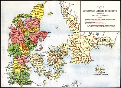 kart over danmark Herreder i Danmark – Wikipedia kart over danmark