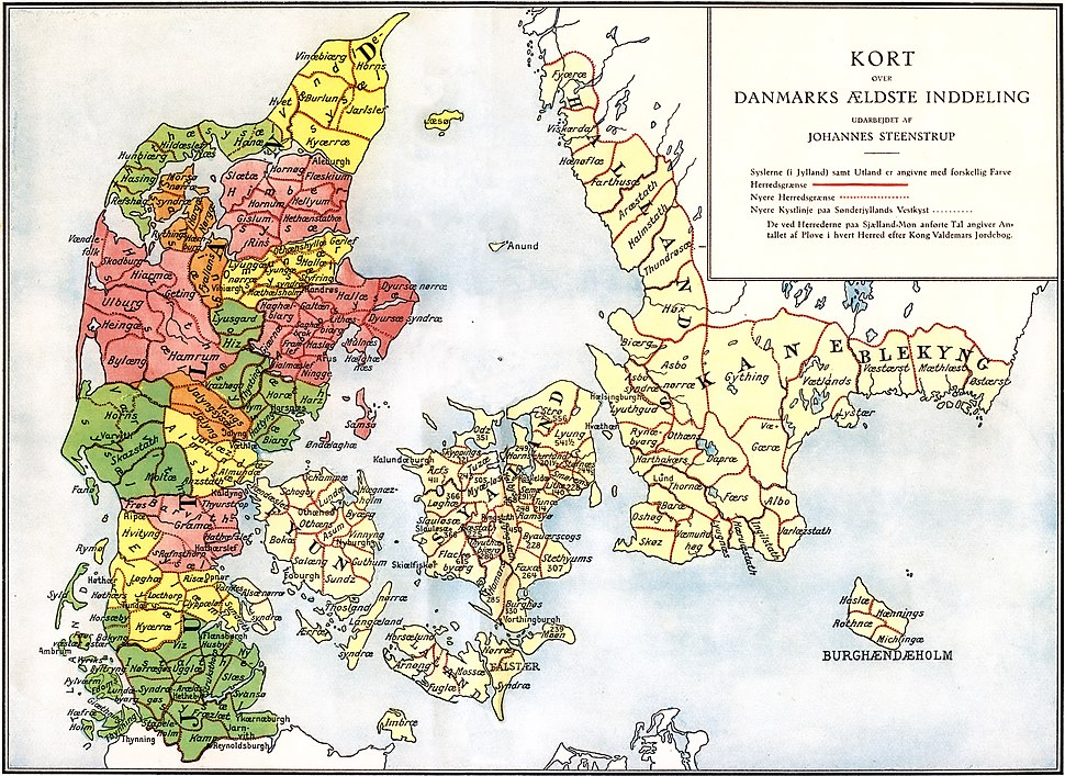 Administrative division of denmark in medieval times