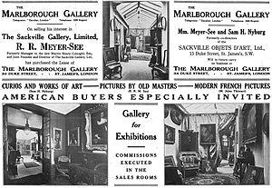 Robert René Meyer-Sée - Advertising for the Marlborough Gallery, 1913