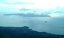 Aerial view of Kaho'olawe, Molokini, and the Makena side of Maui