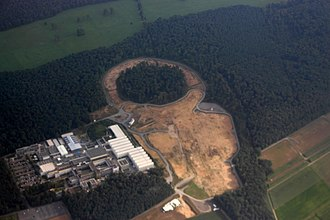 Facility for Antiproton and Ion Research - Aerial view on the FAIR construction site