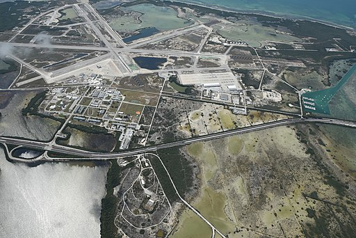 Aerial view of Naval Air Station Key West - Boca Chica Field in April 2016